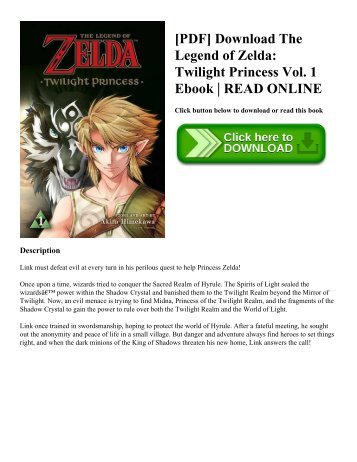 [PDF] Download The Legend of Zelda: Twilight Princess Vol. 1 Ebook | READ ONLINE