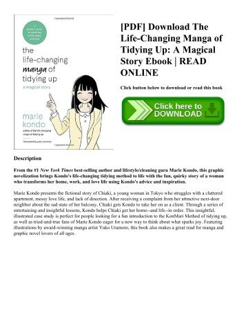 [PDF] Download The Life-Changing Manga of Tidying Up: A Magical Story Ebook | READ ONLINE