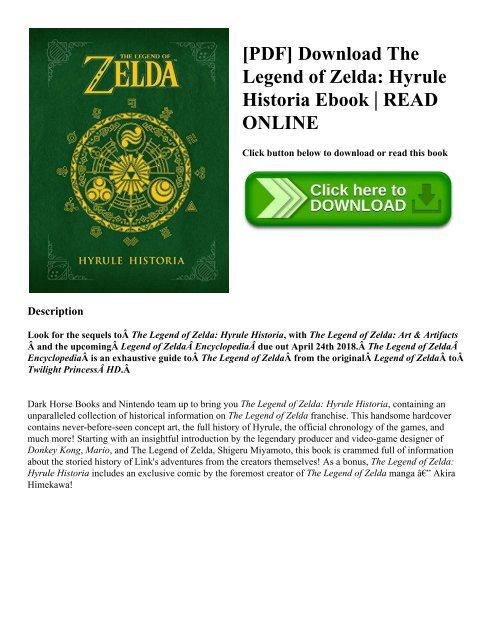 Pdf Download The Legend Of Zelda Hyrule Historia Ebook Read Online