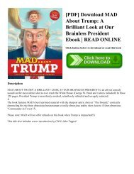 [PDF] Download MAD About Trump: A Brilliant Look at Our Brainless President Ebook   READ ONLINE