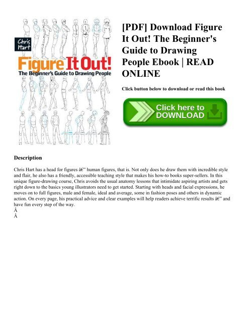 Pdf Download Figure It Out The Beginner S Guide To Drawing People