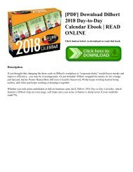 [PDF] Download Dilbert 2018 Day-to-Day Calendar Ebook | READ ONLINE