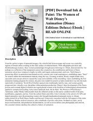 [PDF] Download Ink & Paint: The Women of Walt Disney's Animation (Disney Editions Deluxe) Ebook   READ ONLINE