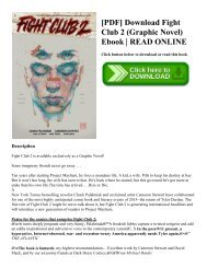 [PDF] Download Fight Club 2 (Graphic Novel) Ebook   READ ONLINE