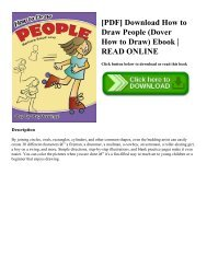 [PDF] Download How to Draw People (Dover How to Draw) Ebook | READ ONLINE