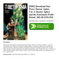 [PDF] Download Star Wars: Doctor Aphra Vol. 2: Doctor Aphra and the Enormous Profit Ebook | READ ONLINE