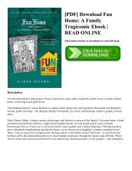 [PDF] Download Fun Home: A Family Tragicomic Ebook | READ ONLINE