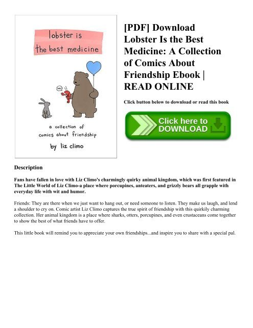 PDF] Download Lobster Is the Best Medicine: A Collection of