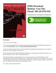 [PDF] Download Batman: Year One Ebook | READ ONLINE