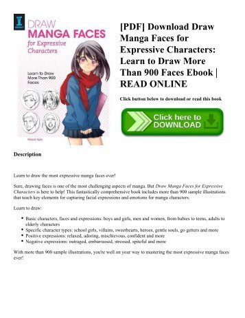 [PDF] Download Draw Manga Faces for Expressive Characters: Learn to Draw More Than 900 Faces Ebook   READ ONLINE