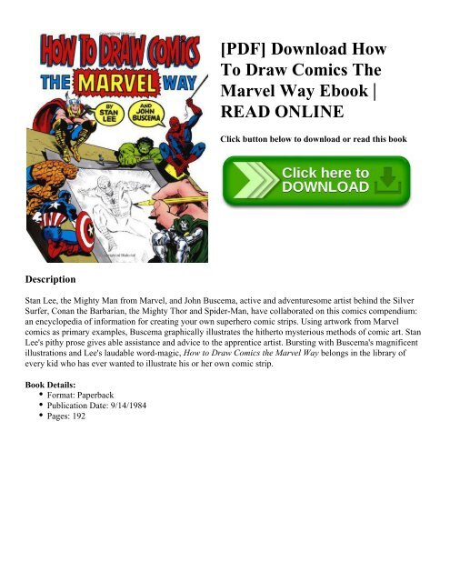 PDF] Download How To Draw Comics The Marvel Way Ebook | READ ONLINE