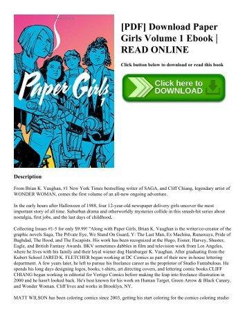 [PDF] Download Paper Girls Volume 1 Ebook | READ ONLINE