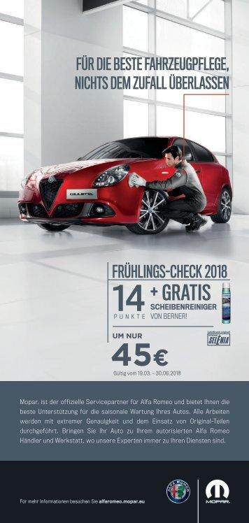 Alfa Frühlingscheck 2018