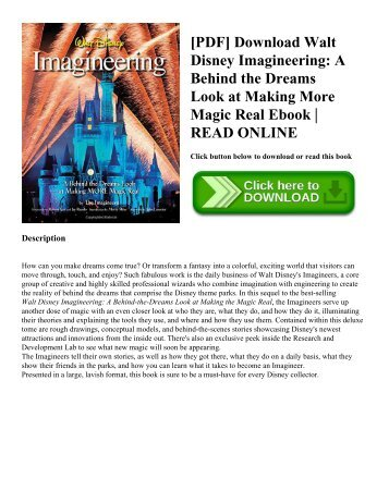 [PDF] Download Walt Disney Imagineering: A Behind the Dreams Look at Making More Magic Real Ebook | READ ONLINE
