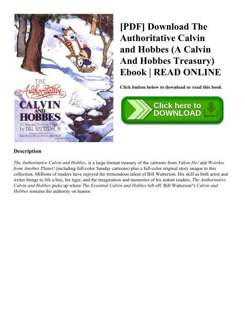 Calvin And Hobbes Complete Collection Ebook