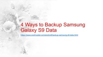 How to Backup Samsung Galaxy S9 Data