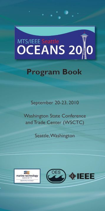 Program Book - Oceans '10 – MTS/IEEE SEATTLE