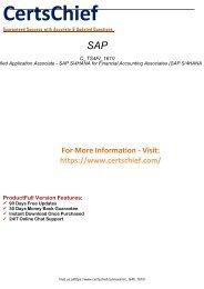 C_TS4FI_1610 Dumps PDF - Updated Certification Exam Questions 2018