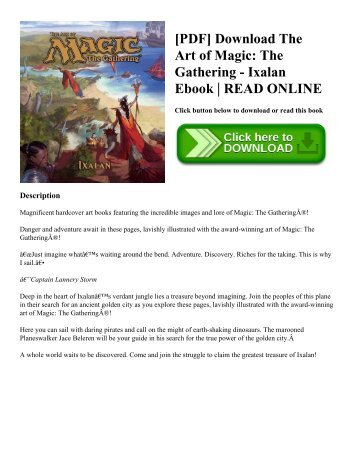 [PDF] Download The Art of Magic: The Gathering - Ixalan Ebook | READ ONLINE