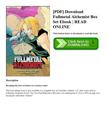 [PDF] Download Fullmetal Alchemist Box Set Ebook | READ ONLINE