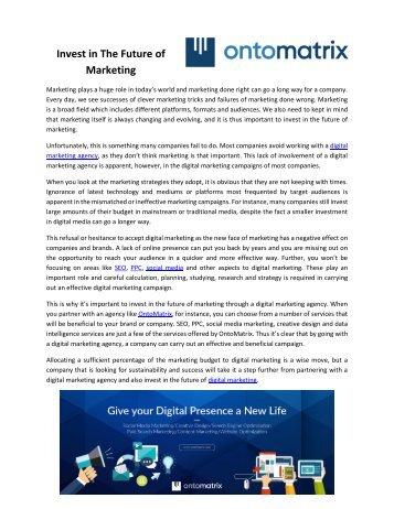 Digital Marketing Agency | SEO | AdWords | Social Media | Ontomatrix