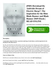 [PDF] Download Do Androids Dream of Electric Sheep?: The inspiration for the films Blade Runner and Blade Runner 2049 Ebook | READ ONLINE