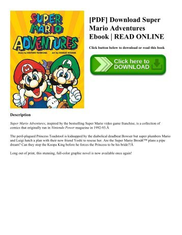 [PDF] Download Super Mario Adventures Ebook | READ ONLINE
