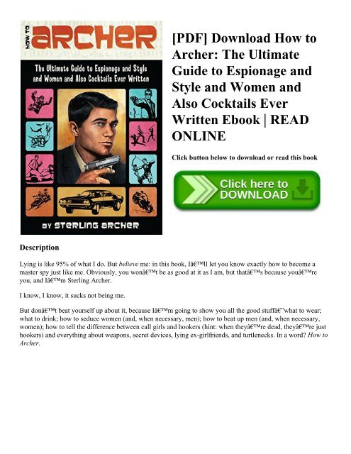 Pdf Download How To Archer The Ultimate Guide To Espionage And