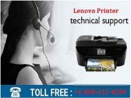 1-800-213-8289 Lenovo Printer Support Phone Number