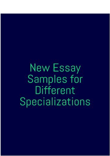 New Essay Samples for Different Specializations