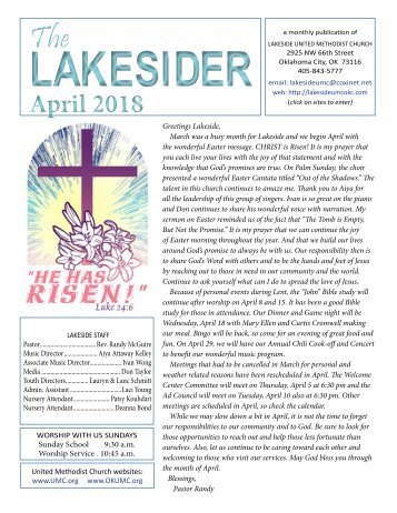 April 2018 Lakesider