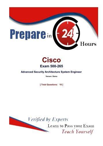 2018 500-265 Exam Braindumps - Cisco 500-265 Exam Questions Dumps4Download