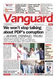 30032018 - We won't stop talking about PDP's corruption —BUHARI, OSINBAJO, TINUBU