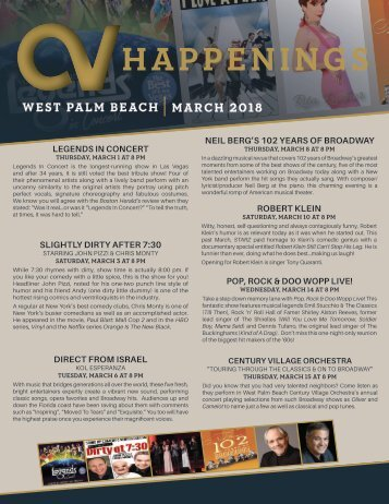 West Palm Beach March 2018 Happenings