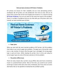 Find Out Some Common HP Printers Problems