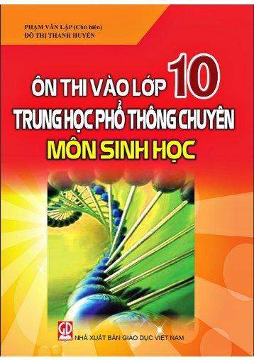 Ôn tập vào 10 THPT chuyên môn Sinh Học (2015)