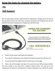 Know the hacks for charging the battery via Dell Support