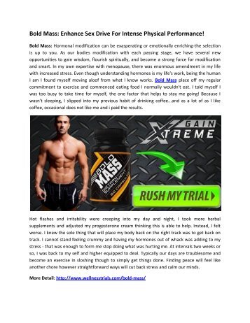 Bold Mass: Natural Male Enhancer To Boost Sexual Vigor!