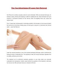 The Top Advantages Of Laser Hair Removal