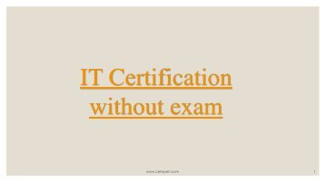IT Certification without exam
