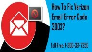 How to Fix Verizon Email Error Code 2003? 1-800-361-7250 for Help