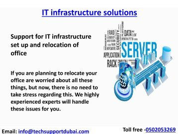 Get the Best  IT infrastructure solutions in Dubai'' Dial - 0502053269''