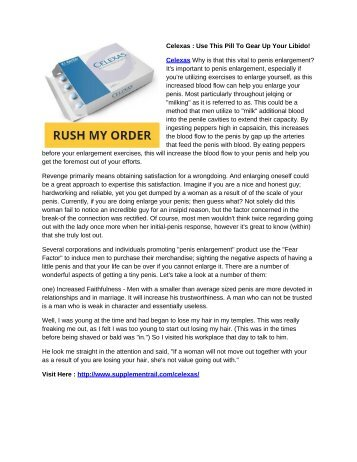 Celexas – Legit Male Enhancement Pill For Maximum Performance