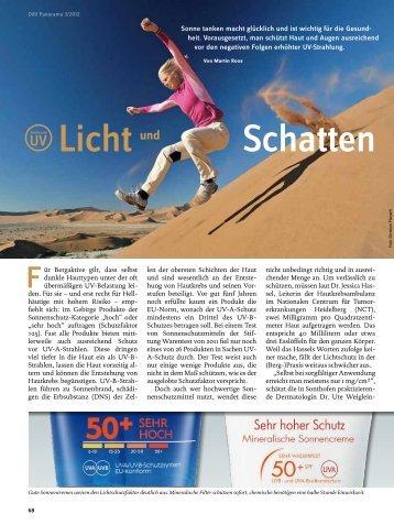 Licht und Schatten - Deutscher Alpenverein