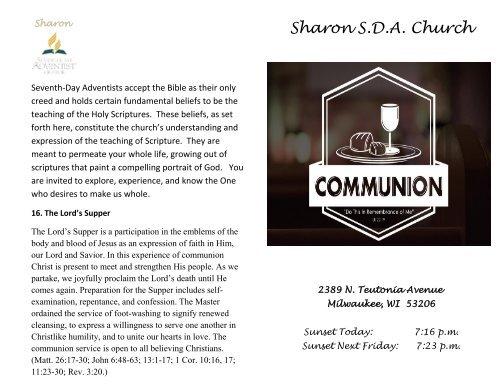 3-31-18 Communion Sabbath