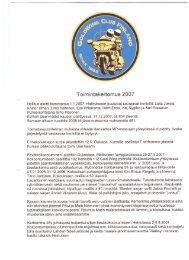 2007 Toimintakertomus
