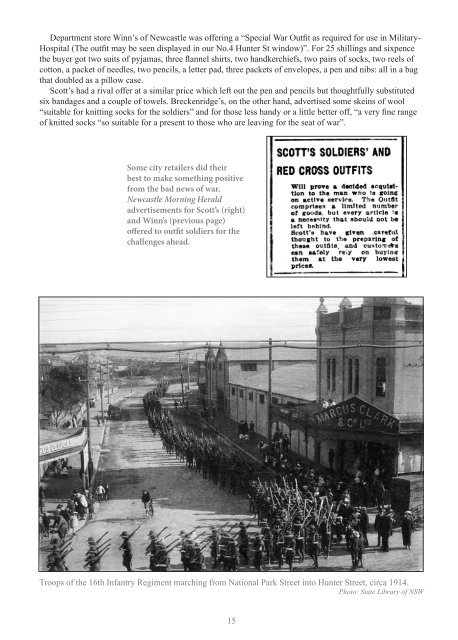 Pages from Hunter Region in the Great War