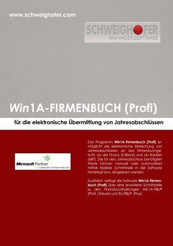 Win1A-FIRMENBUCH (Profi) - SCHWEIGHOFER Manager