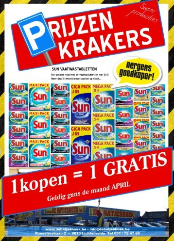 Prijzenkrakers April 2017