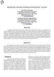 sistema de altitude: integração continente – oceano - Georeferencial